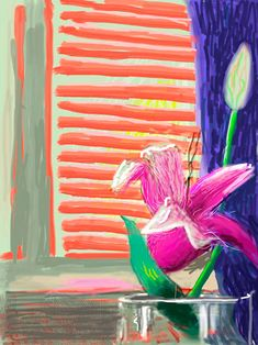 iPad art by David Hockney David Hockney Ipad, David Hockney Art, David Hockney Paintings, Painting Trim, Painting Wallpaper, Painting & Drawing, Ipad Kunst, James Rosenquist, Tamara