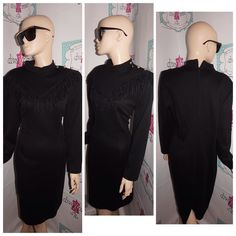 """Up for sale is this lovely Vintage Postive Attitude Black Shingle Dress Size XL  Flaws: none noticeable  Material:  acrylic/polyester  Shoulder Pads: yes Pit to Pit: """" 21 Sleeve: """" 15 Overall Length: """" 41  http://ift.tt/1CopG9B #vintage #vintagefashion #vintagestyle #vintagedress #vintageshopping #shopping #ilovevintage #vintage-love #vintageclothing #vintagesale #divaxpress #followme #followmystore #vintagestore #storenvy #vintagelook #vintagefinds #vintagegirl #vintagelover  #thriftsociety…"""