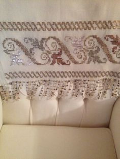 This Pin was discovered by Fat Table Runners, Bed Pillows, Cross Stitch, Style Inspiration, Embroidery, Sewing, Home Decor, Cross Stitch Borders, Needlepoint