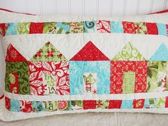A Quilting Life Saturday Seven Inspiration for Quilters 56 post with fun things for quilters from around the web: recipes, organizing, tutorials & more! Christmas Wall Hangings, Christmas Fabric, Christmas Pillow, Christmas Crafts, Christmas Houses, Merry Christmas, Christmas Quilting, Christmas Sewing, Quilting Tutorials
