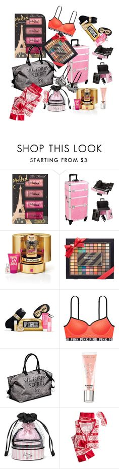"""Wishlist sets"" by eliyanakubelis on Polyvore featuring Too Faced Cosmetics, Juicy Couture, Simple Pleasures and Victoria's Secret"