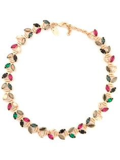 Shop designer necklaces for women at Farfetch for of designs from all your favorite brands, including Alexander McQueen, Gucci and more. Floral Necklace, Beaded Necklace, Beaded Bracelets, Necklaces, Iosselliani, Necklace Designs, Swarovski Crystals, Pendants, Jewels