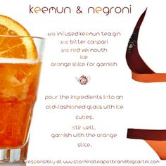 Keemun & Negroni www.storminateapot.com Fb // Storm in a Teapot Twitter // twitter.com/StormTeapot