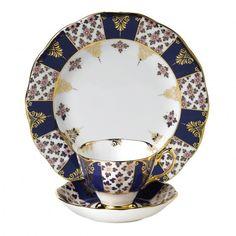 100 Years Of Royal Albert 1900 Regency Blue 3-Piece Set