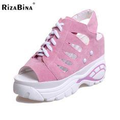 Women Wedges High Heels Sandals Fretwork Cross Strap Shoe Peep Toe Shoes Women Slingbacks Fashion Leisure Footwear Size 35-39 #Affiliate