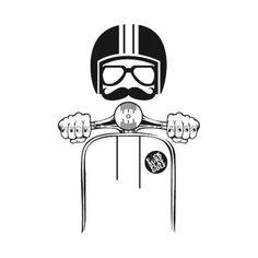 Check out this awesome 'Vespa+Hipster' design on - Thomas & Vespa - Motorrad Piaggio Vespa, Vespa Lambretta, Vespa Scooters, Tattoo Artwork, Tatoo Art, Poster Retro, Vintage Posters, Vespa Illustration, Hipster Illustration