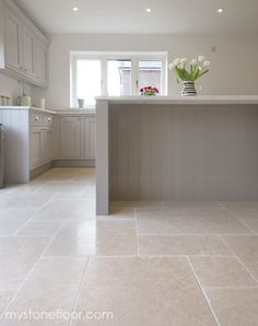 Dijon Tumbled limestone tiles – beautiful minerals and fossils in our Dijon limestone wall & floor tiles. Order your free sample of Dijon tumbled limestone. Limestone Wall, Limestone Flooring, Granite Flooring, Kitchen Flooring, Kitchen Tile, Limestone Pavers, Amtico Flooring, Wood Flooring, Kitchen Cabinets