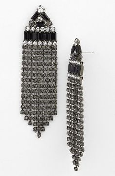 Gorgeous fringed drop earrings