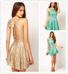 Wholesale cheap lace bridesmaid dresses online, 2014 spring summer - Find best 2014 sparky gold open back dress halter sequin bachelorette party dresses beach bridesmaid dresses nightclub dresses mini homecoming dresses at discount prices from Chinese party dresses supplier on DHgate.com.