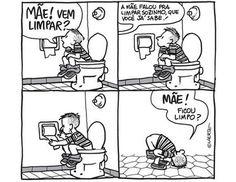 Satirinhas - Quadrinhos, tirinhas, curiosidades e muito mais! - Part 134 Tears Of Joy, Calvin And Hobbes, Jikook, Funny Moments, Comic Strips, Peanuts Comics, Art Drawings, Haha, Comedy