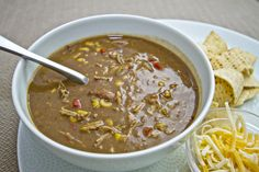 Carnitas, Corn, and Black Bean Soup #Recipe #Dinner #Hungry