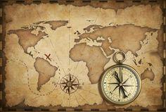Download Compás Náutico Antiguo De Cobre Amarillo Envejecido Y Mapa Viejo Foto de archivo - Imagen: 28133760