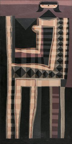 Colin Middleton RHA RUA MBE (1910-1983)Seated Woman (1964)Oil on board, 91 x 46cm (35¾ x 18'')Signed with monogram; also signed and inscribed versoProvenance: With the Tom Caldwell Galleries, Dublin.Exhibited: The UTV Art Collection Exhibitio