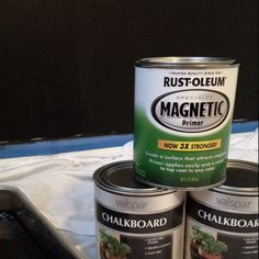 Add more fun to a chalkboard wall by priming it with magnetic primer...kids are gonna love it!!