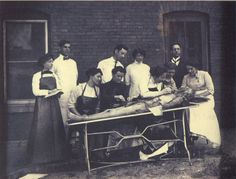 ca. 1895, [portrait of female medical students performing a dissection] via A Morning's Work: Medical Photographs from the Burns Archive, Stanley B. Burn