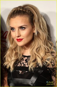 Perrie Edwards | this would be so quick and easy and cute for left over curls during camp.