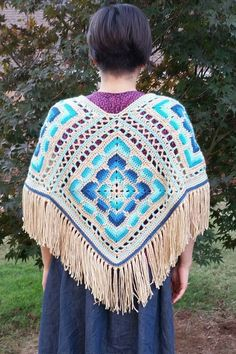 Check out this item in my Etsy shop https://www.etsy.com/listing/469900258/crochet-poncho-boho-retro-gypsy-hippie