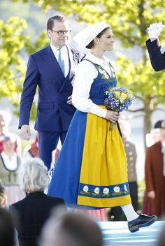 Crown Princess Victoria and Prince Daniel during the national day celebrations at Skansen on June 6, 2017 in Stockholm, Sweden.