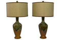 Drip Glaze Lamps, Pair on OneKingsLane.com