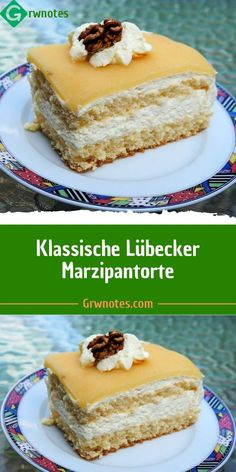 classic lubeck marzipan cake 😍 - Ingredients: For the shortcrust pastry: 175 g flour 75 g sugar 100 g cold butter 1 egg For the spon - Chocolate Cake Recipe Easy, Homemade Chocolate, Chocolate Recipes, Easy Cake Recipes, Snack Recipes, Dessert Recipes, Marzipan Cake, Pecan Cake, Shortcrust Pastry