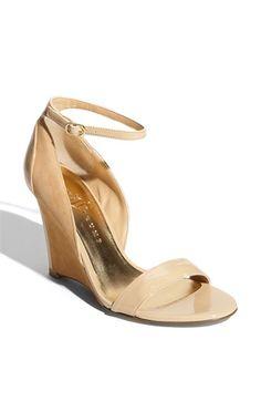 nude wedge sandal