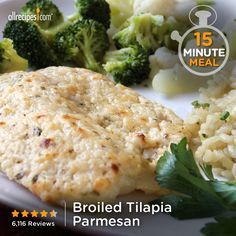 "Broiled Tilapia Parmesan | ""This is the easiest, yummiest fish recipe ever! All 3 of my kids gobbled it up (which is a feat) and love it! This will be made in our house again and again."""