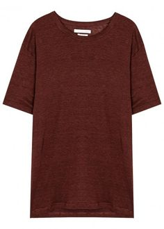 Keiran burgundy linen T-shirt
