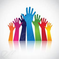 Colorful Hands Raised Up. Free Vectors, Vector Free, Free Vector Illustration, Pictogram, Girl Scouts, Clip Art, Symbols, Abstract, Gallery