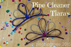 These super easy and very quick pipe cleaner tiara's look awesome and are perfect for big and little girls who want a bit of glitz.