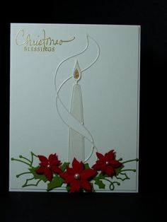 Christmas Blessings Holiday Candle by Ink-Creatable WOH - Cards and Paper Crafts at Splitcoaststampers