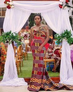 Super stylish Long Kitenge-Kente Fashion styles for 2020 African Bridal Dress, African Wedding Attire, African Print Dresses, African Print Fashion, African Attire, African Dress, African Prints, African Traditional Wedding, African Traditional Dresses