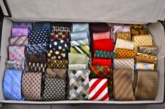 a great way to organize ties.