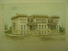 Accepted Design for the Dallas Flats , Dallas, TX, 1896, J. Riely Gordon
