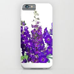 Phone case | Delphinium flower, garden blue violet floral photo, iphone, ipod, galaxy s6, galaxy s5 s4, nature photograph, color photography by RVJamesDesigns on Etsy