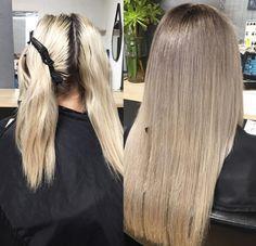Hair by Charmaine ash blonde ombré