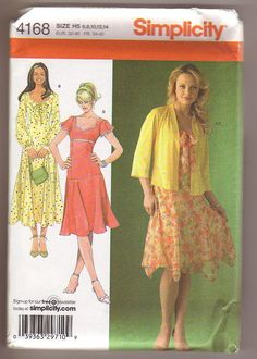 Simplicity 4168 Misses Lined Dress with by Noahslady4Patterns