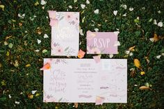 Calligraphy Floral Stationery Invitation Relaxed Rustic DIY Barn Wedding http://www.wearethelous.com/