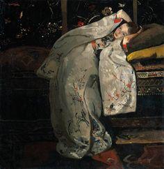 Meisje in witte kimono (Geesje_Kwak) George Hendrik Breitner