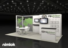 Nimlok specializes in trade show booths and technology exhibits. For Trip Advisors we showcased their brand and services with a 10x20 custom trade show display.