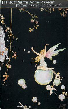 Alice Marshall ~ vintage Oilette postcard Fairyland Fancies series from England, via Hannhell