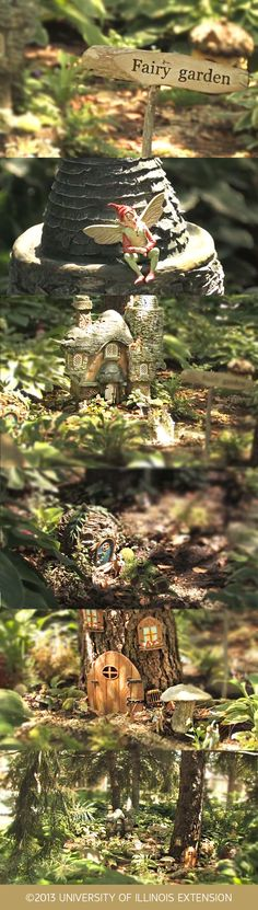 Fairy Gardens can be a fun outdoors project for any age. Consider building your garden under a pine tree (or similar area) where space is often underutilized. It also fittingly keeps your fairy world more secret! Mini Fairy Garden, Fairy Garden Houses, Gnome Garden, Garden Art, Hobbit Garden, Create A Fairy, Little Gardens, Gnome House, Garden Terrarium