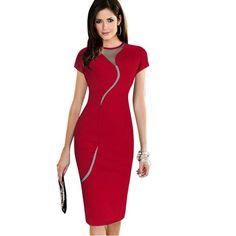 Sexy Mesh Bodycon Pencil Dress