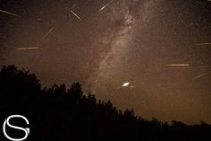Night sky photographer Guy Strong combined 30 images of the 2013 Perseid meteor shower to create this composite view using observations captured between Aug. 11 and 12 in 2013 from Leelanau County Michigan on Lime Lake.