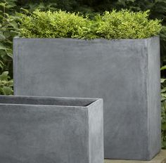 Garden, : Comely Furniture And Accessories For Garden Decoration Using Rectangular Floor Standing Modern Concrete Planters