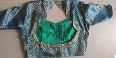 Blouse Back Neck Designs, Fancy Blouse Designs, Blouse Styles, Sarees, Blouses, Crop Tops, Stylish, Pattern, Dresses