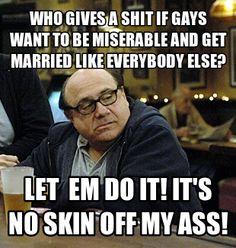 Frank Reynolds on gay marriage
