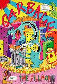 Original concert poster for Garbage at the Fillmore in San Francisco, CA. 13