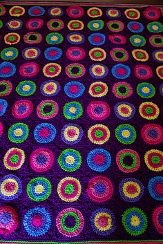 Crochet Pokey Dots Throw: free pattern through link or:  www.redheart.com/free-patterns/pokey-dots-throw
