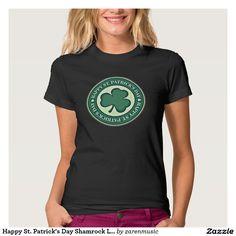 Happy St. Patrick's Day Shamrock Logo T-Shirts