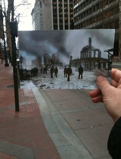 Looking Into the Past: 1906 San Francisco Earthquake - Market and Battery Streets